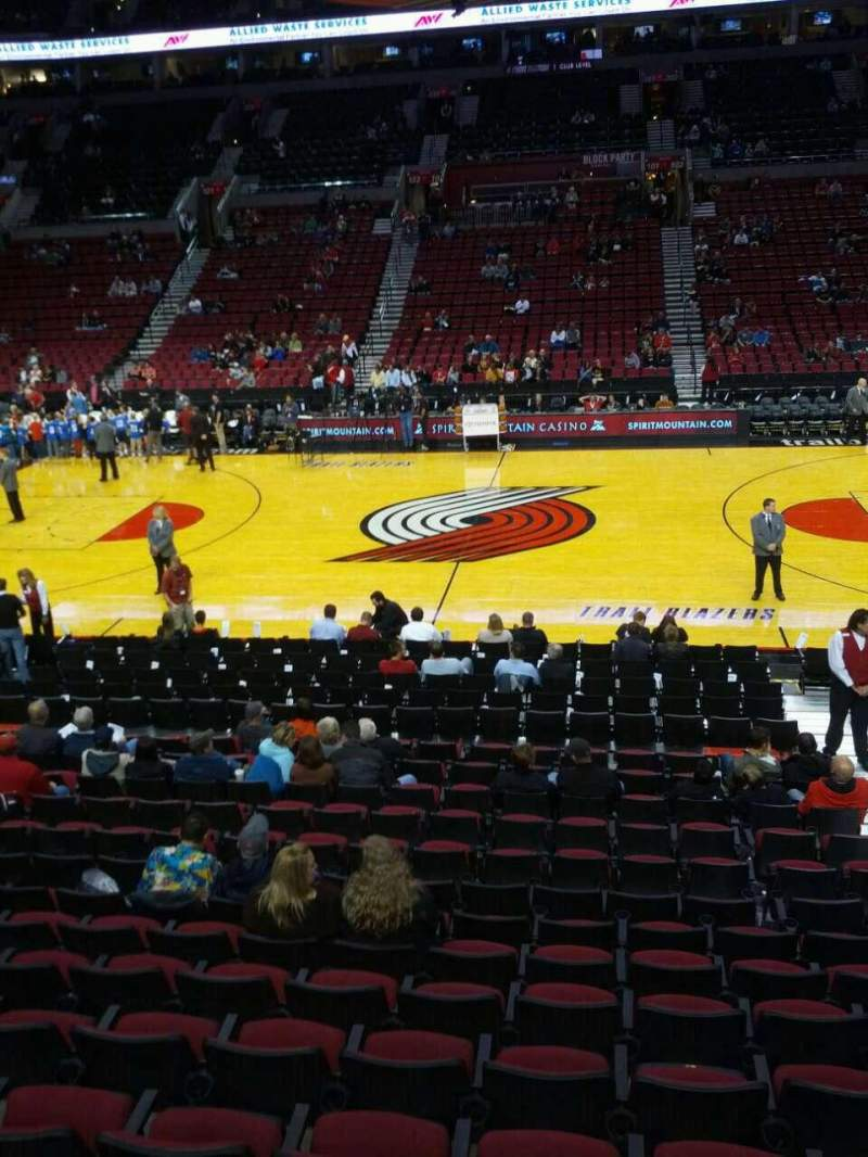 Seating view for Moda Center Section 110 Row p Seat 4