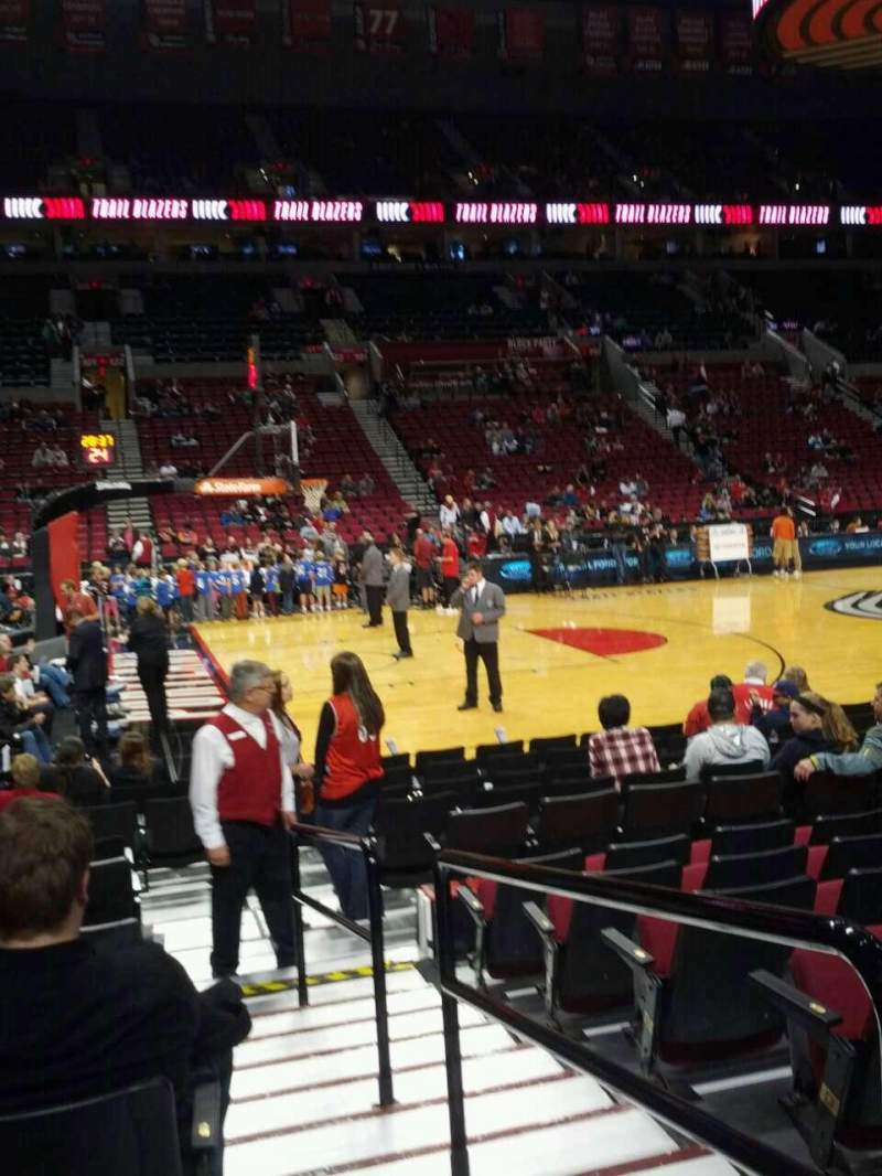 Seating view for Moda Center Section 114 Row g Seat 1