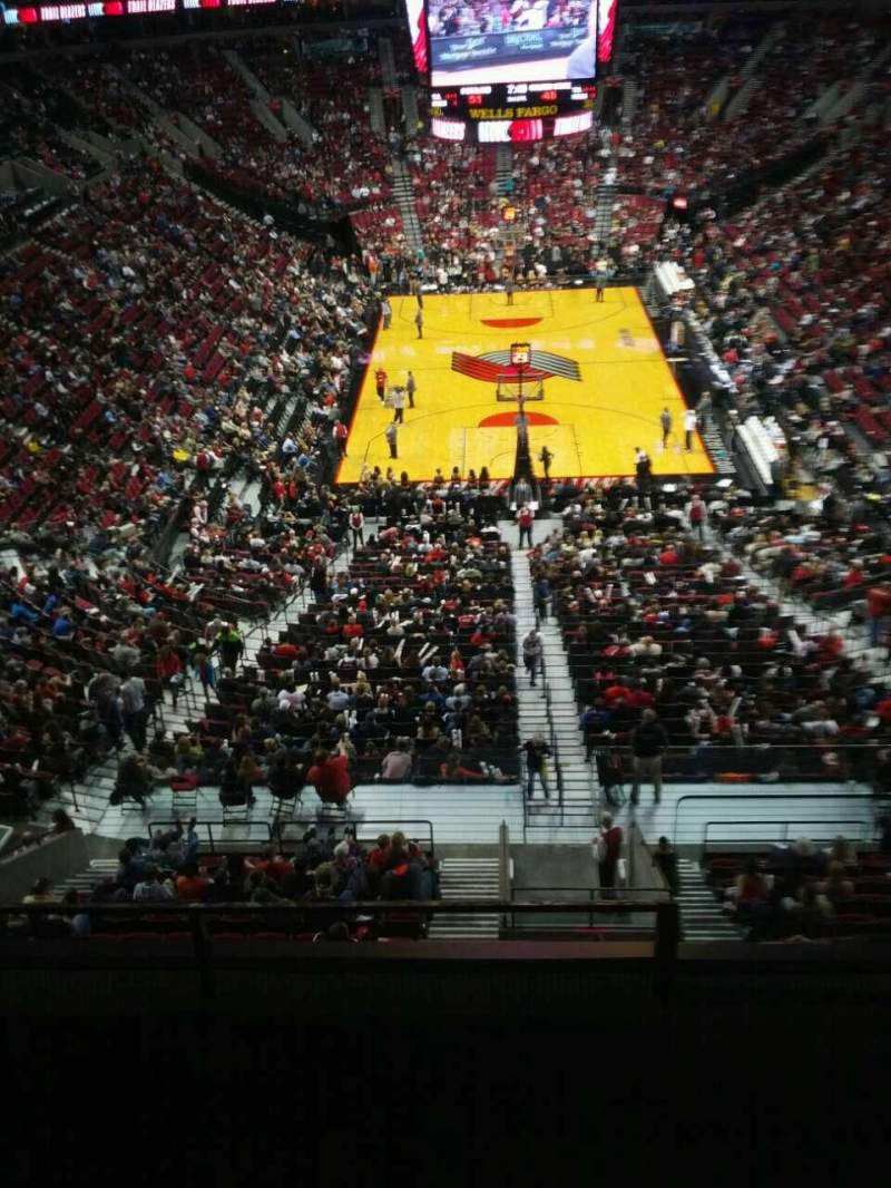 Seating view for Moda Center Section 310 Row d Seat 3
