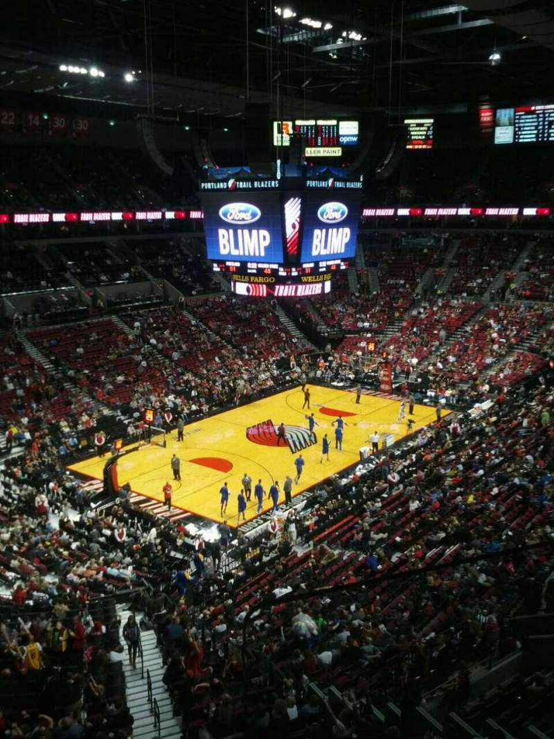 Seating view for Moda Center Section 306 Row b Seat 2
