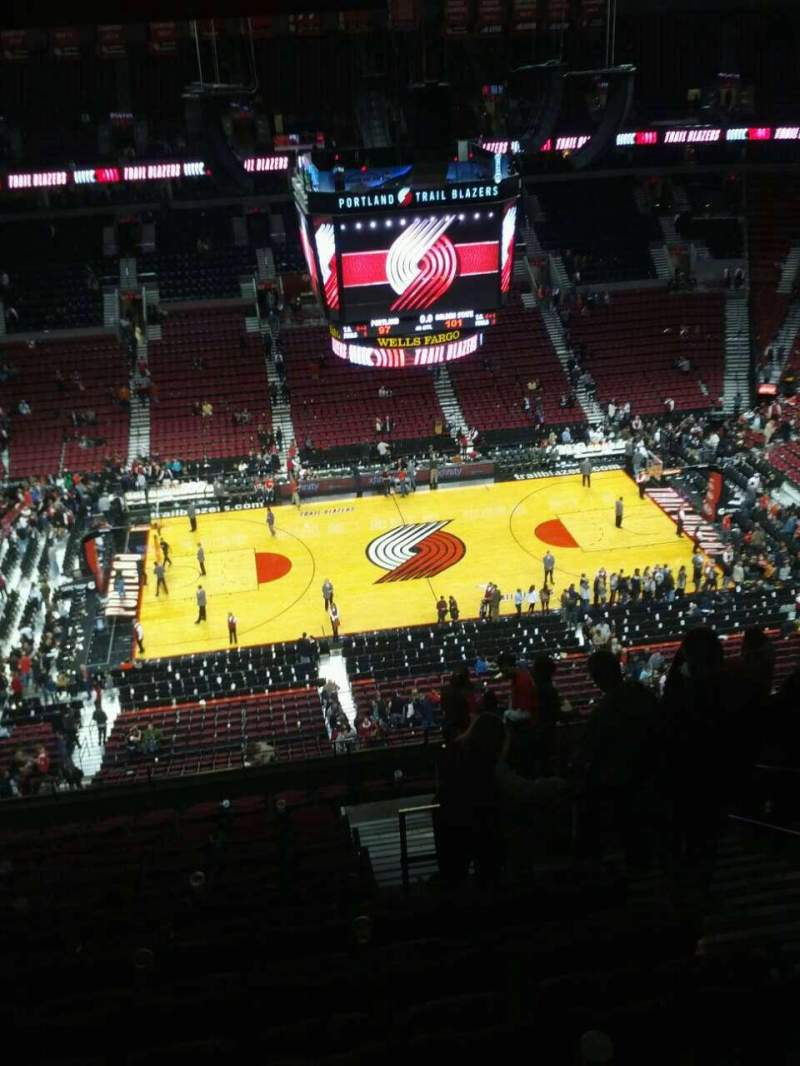 Seating view for Moda Center Section 319 Row o Seat 5