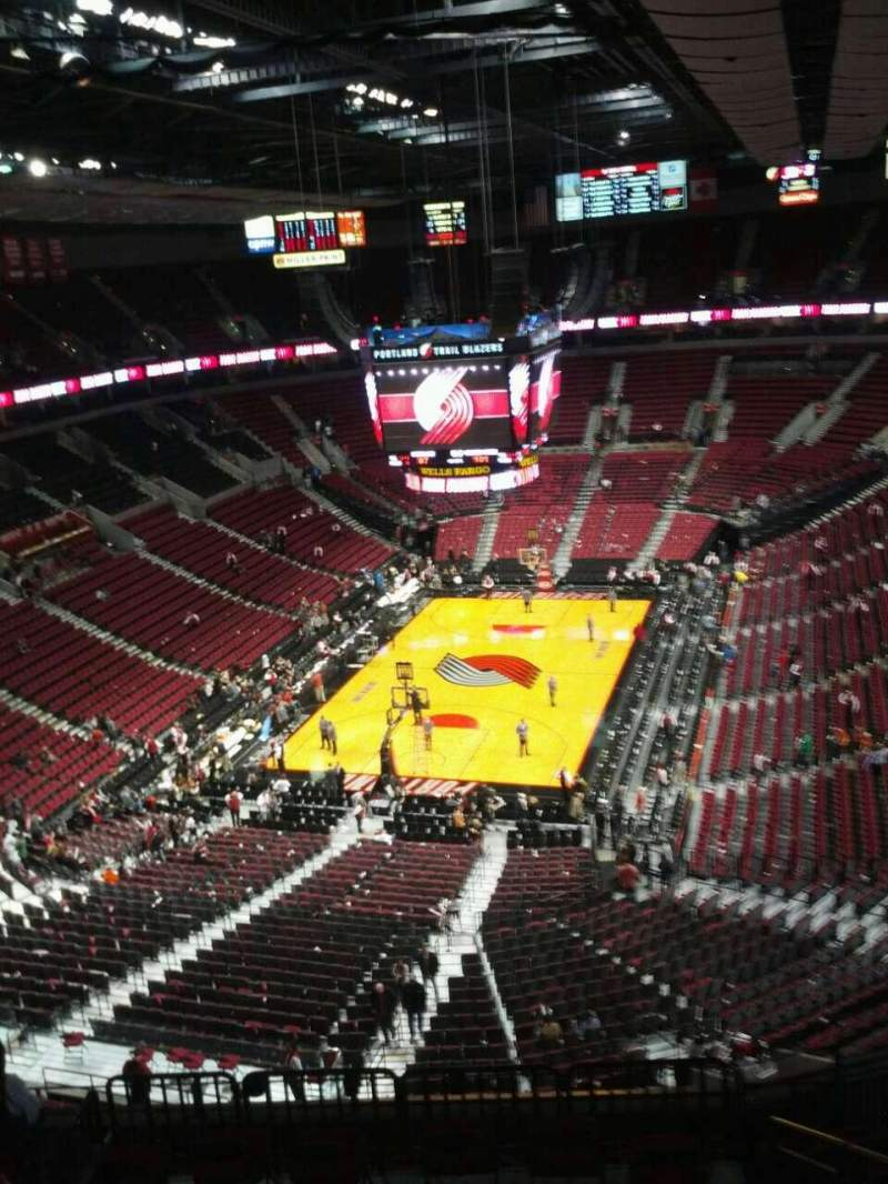 Seating view for Moda Center Section 325 Row k Seat 7