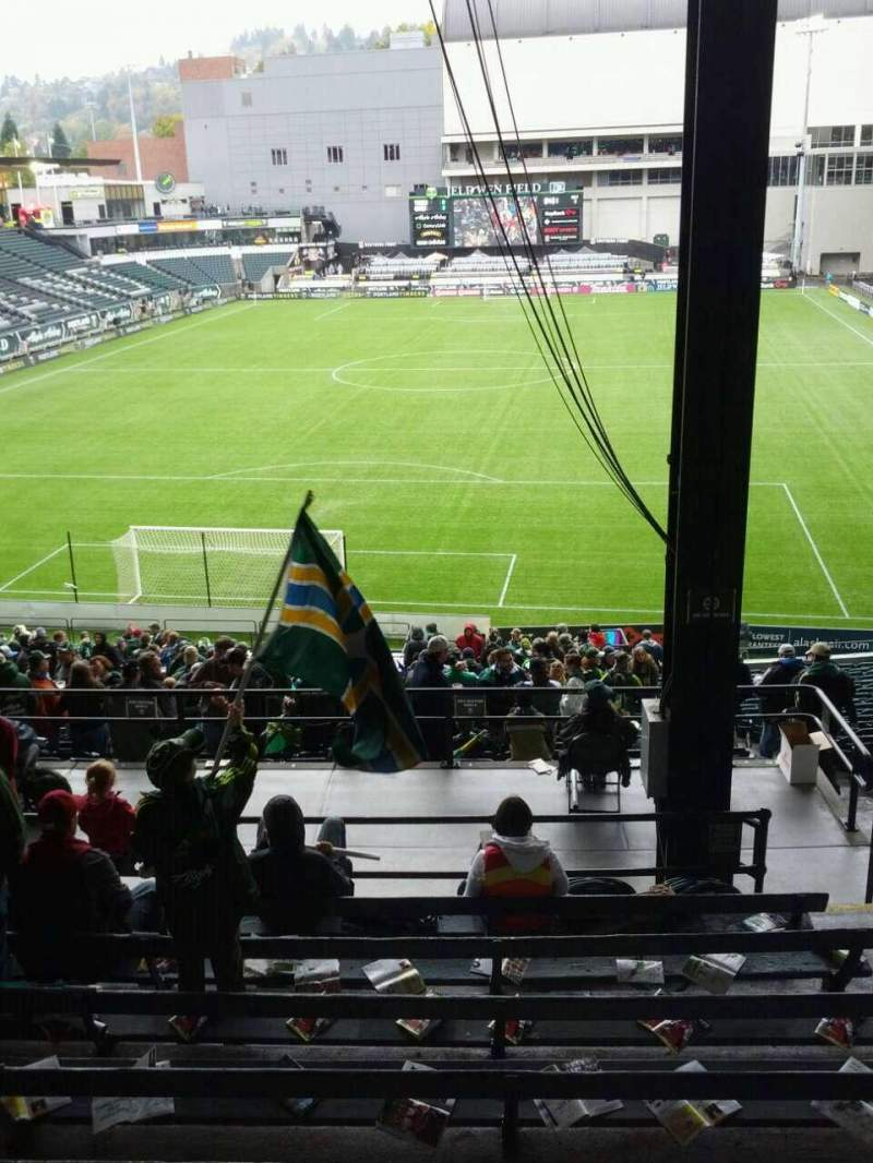 Seating view for Providence Park Section 208 Row i Seat 13
