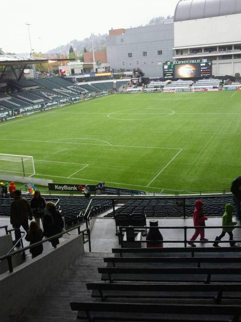 Seating view for Providence Park Section 210 Row j Seat 3