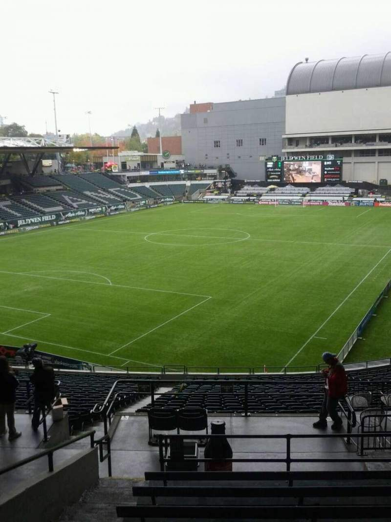 Seating view for Providence Park Section 211 Row j Seat 3