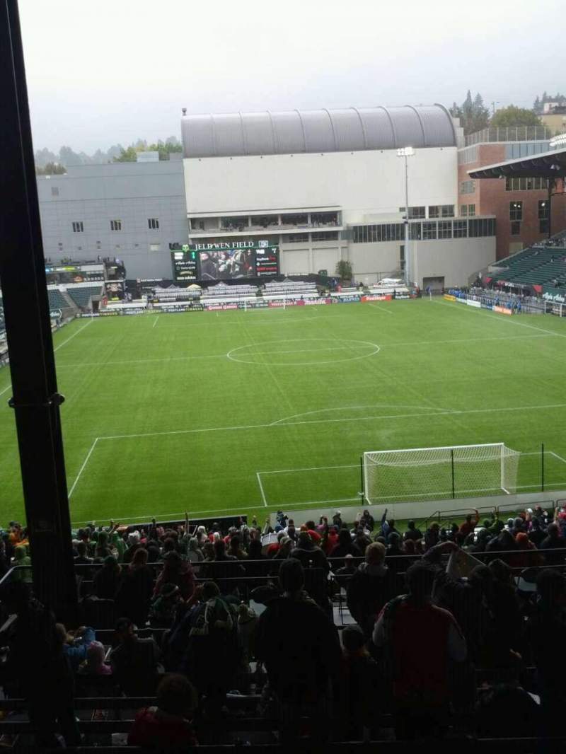 Seating view for Providence Park Section 206 Row k Seat 13