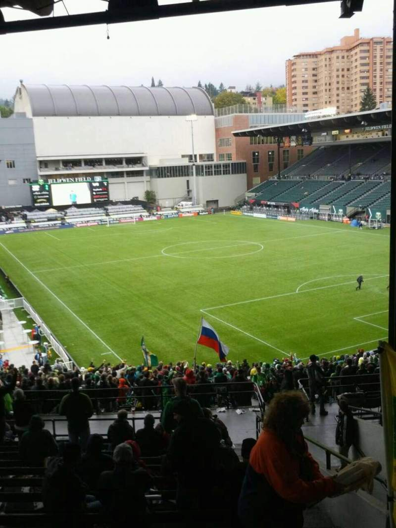 Seating view for Providence Park Section 203 Row o Seat 22