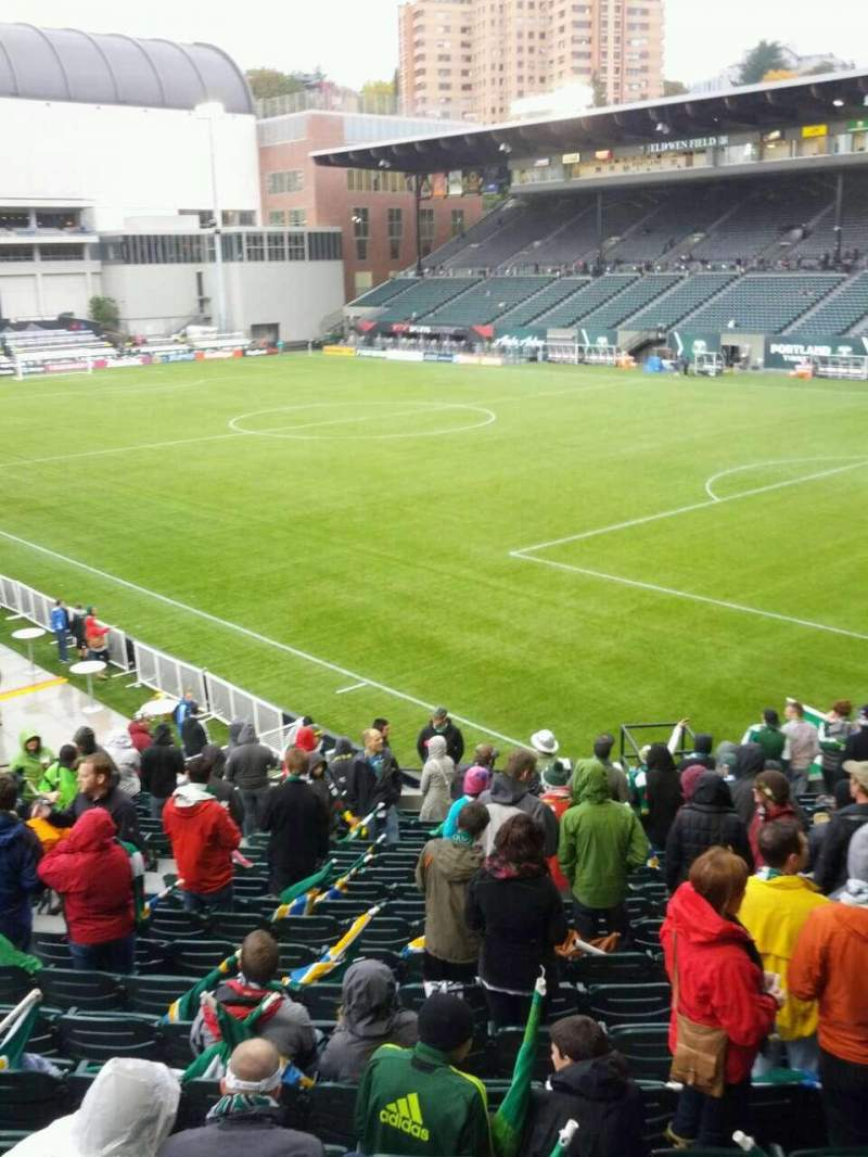 Seating view for Providence Park Section 102 Row r Seat 6