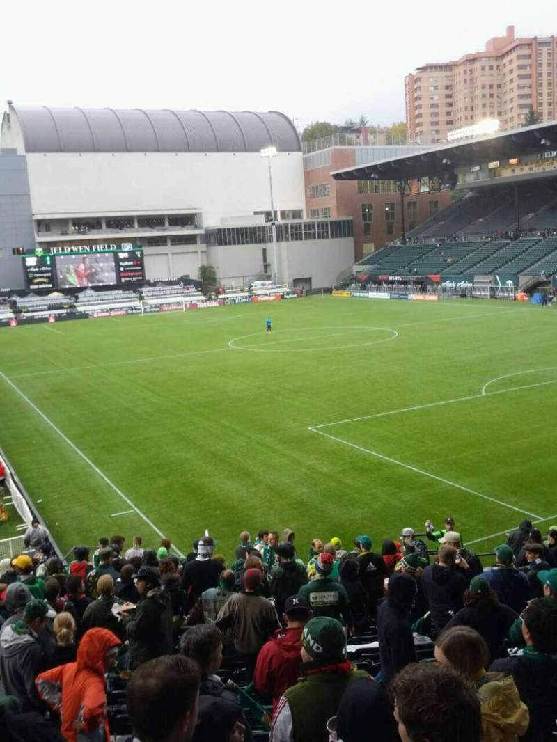 Seating view for Providence Park Section 103 Row r Seat 8