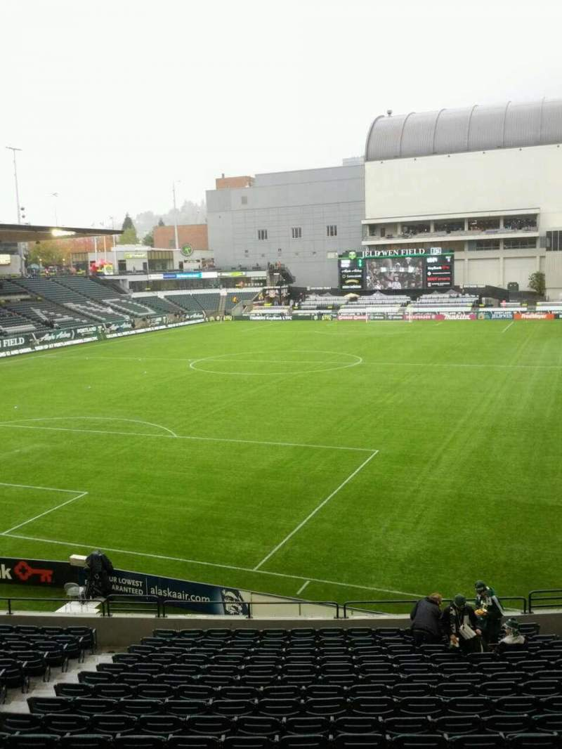Seating view for Providence Park Section 110 Row r Seat 9