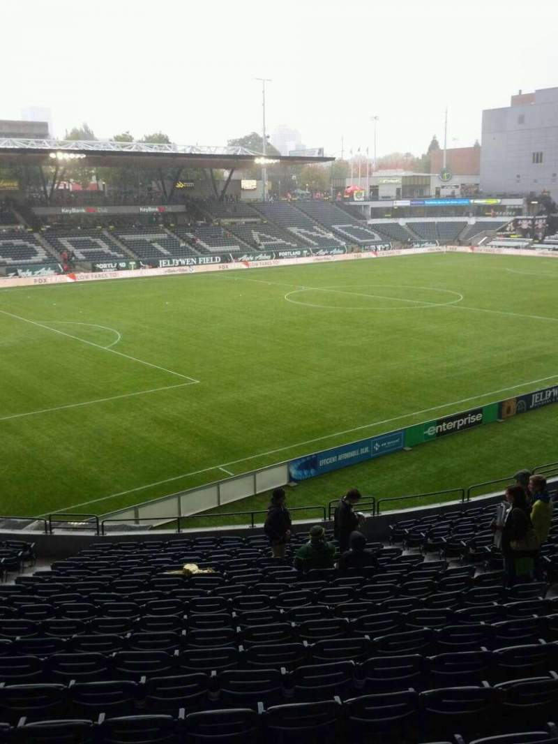 Seating view for Providence Park Section 113 Row r Seat 8