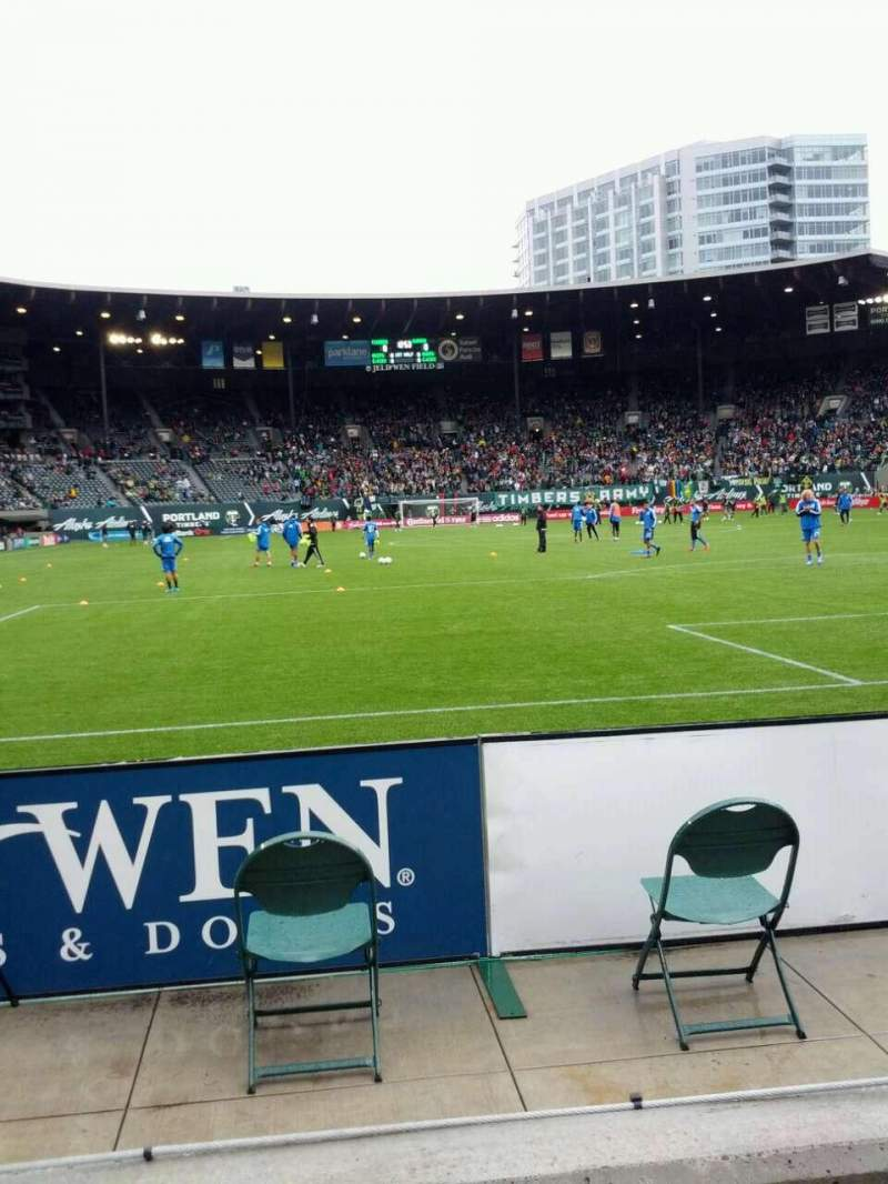 Seating view for Providence Park Section Sd2 Row b Seat 16