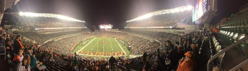 Paul Brown Stadium, section: 226, row: 30, seat: 1