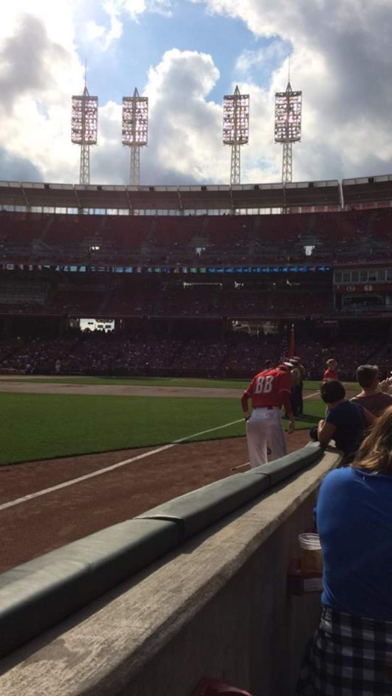Seating view for Great American Ball Park Section 111 Row D Seat 17