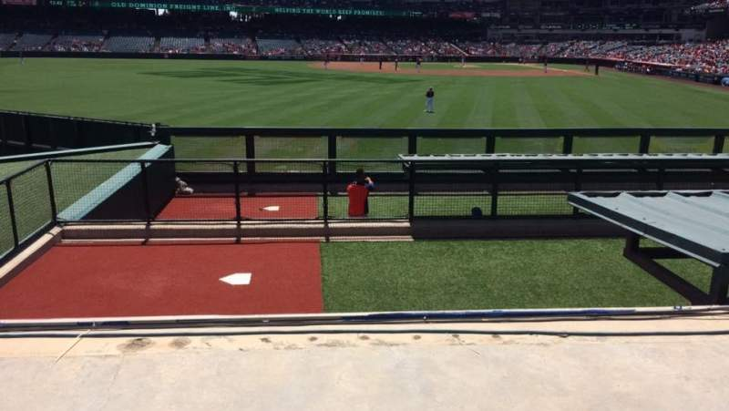 Seating view for Angel Stadium Section P258 Row H Seat 9