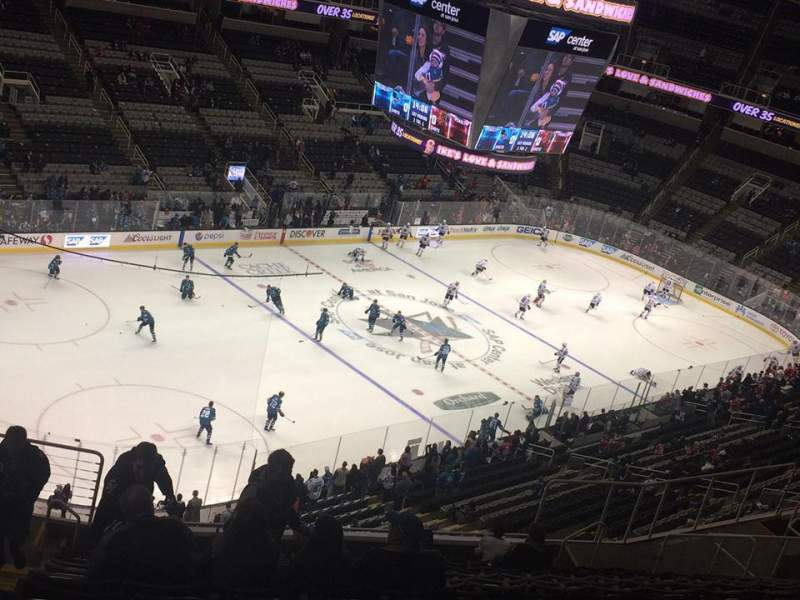 Seating view for SAP Center Section 218 Row 15 Seat 21