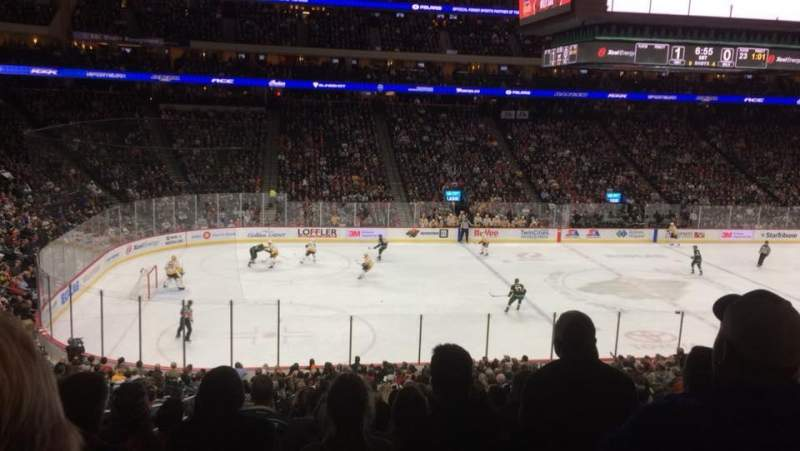 Seating view for Xcel Energy Center Section 105 Row SRO Seat 14
