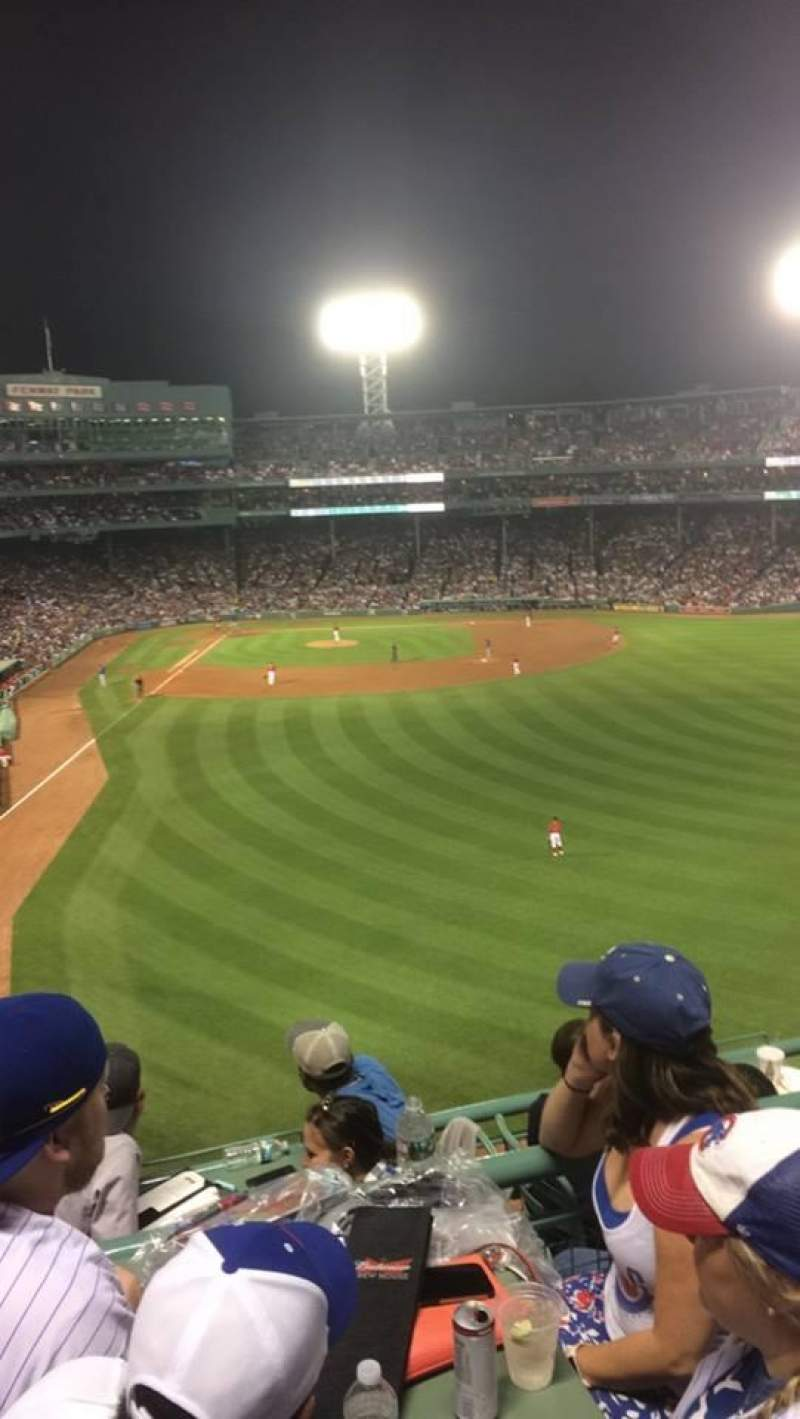Seating view for Fenway Park Section Right Field Roof Deck Row 3