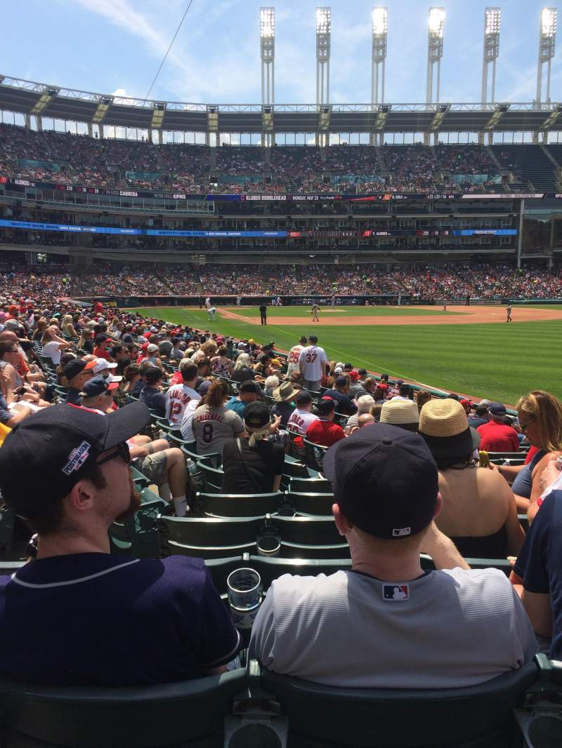 Seating view for Progressive Field Section 117 Row Q Seat 11