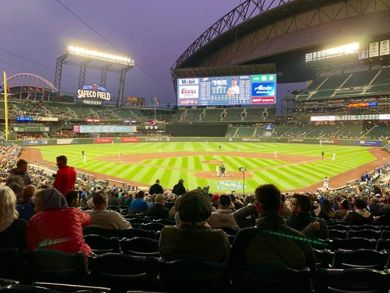 Seating view for T-Mobile Park Section 131 Row 35 Seat 11