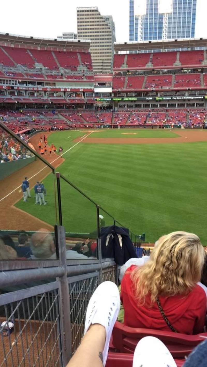 Seating view for Great American Ball Park Section 140 Row N Seat 11