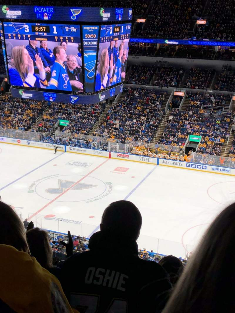 Seating view for Enterprise Center Section 318 Row K Seat 5