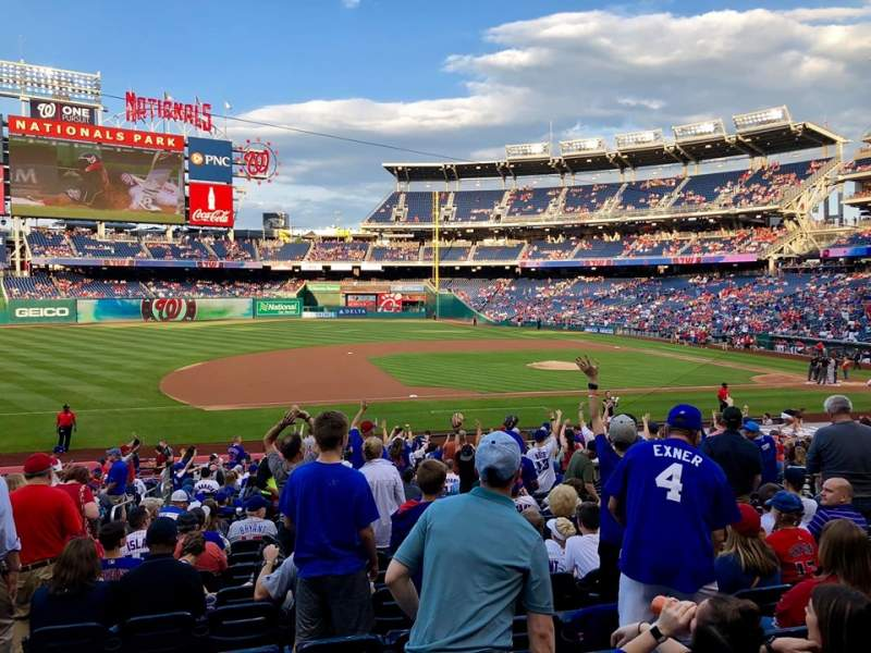 Seating view for Nationals Park Section 115 Row EE Seat 16