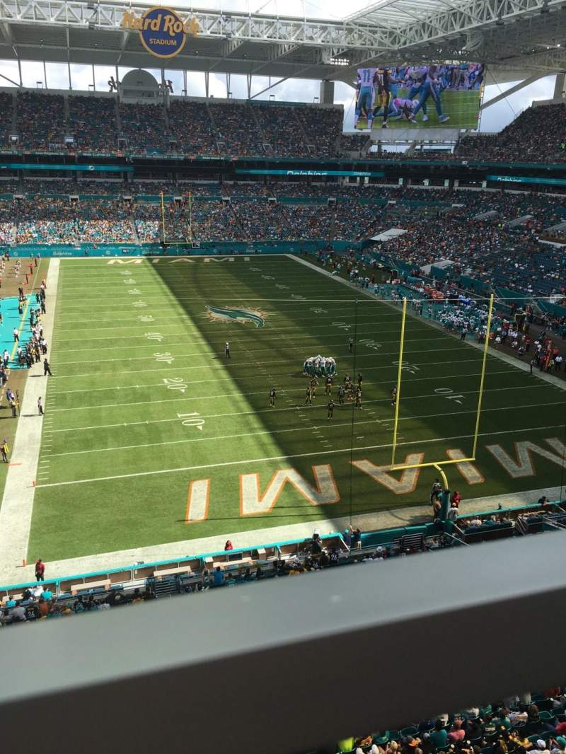Seating view for Hard Rock Stadium Section 306 Row 1 Seat 8