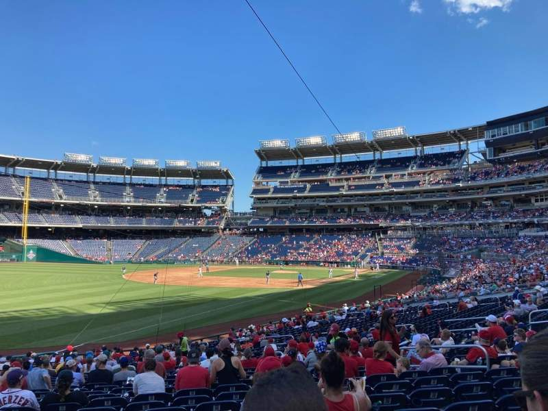 Seating view for Nationals Park Section 109 Row EE Seat 13