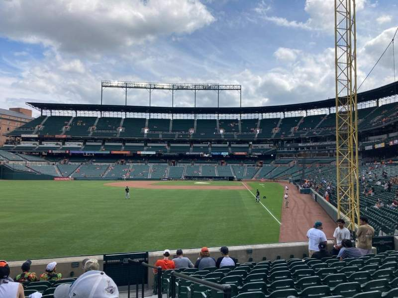 Seating view for Oriole Park at Camden Yards Section 76 Row 12 Seat 1