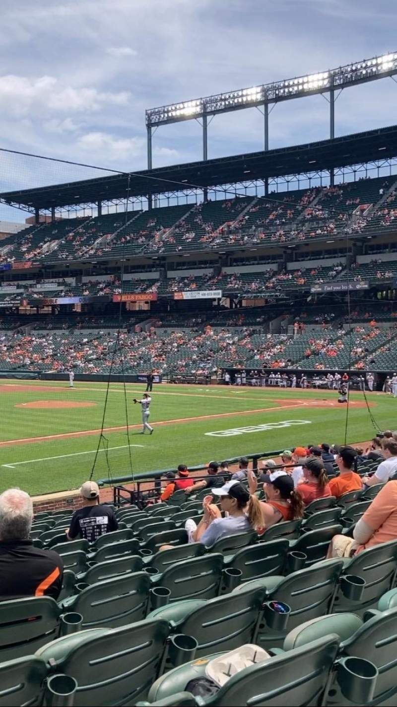 Seating view for Oriole Park at Camden Yards Section 56 Row 16 Seat 13
