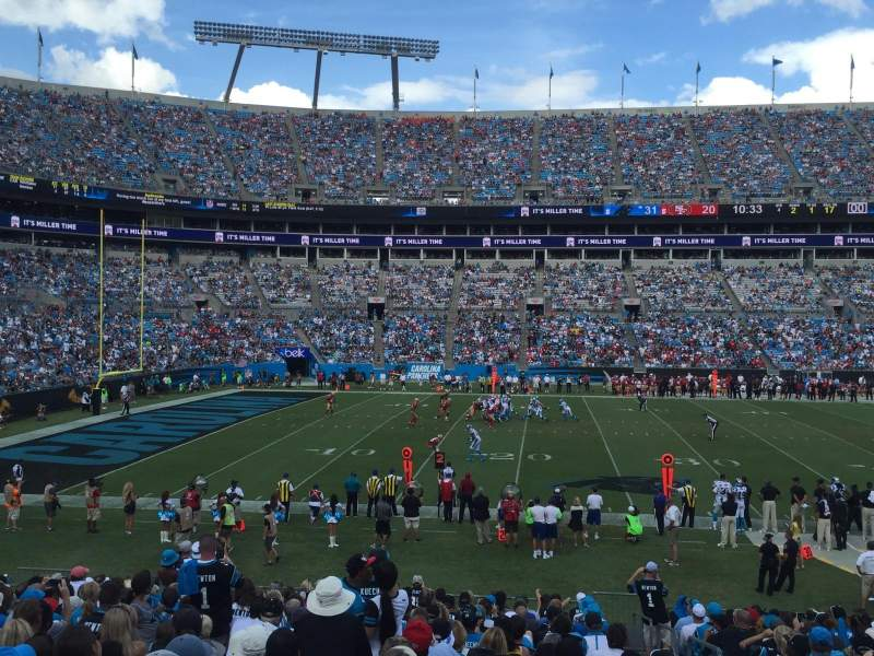 Seating view for Bank of America Stadium Section 134 Row 19 Seat 2