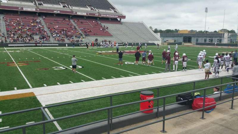 Seating view for Malone Stadium Section student Row 2 Seat 1