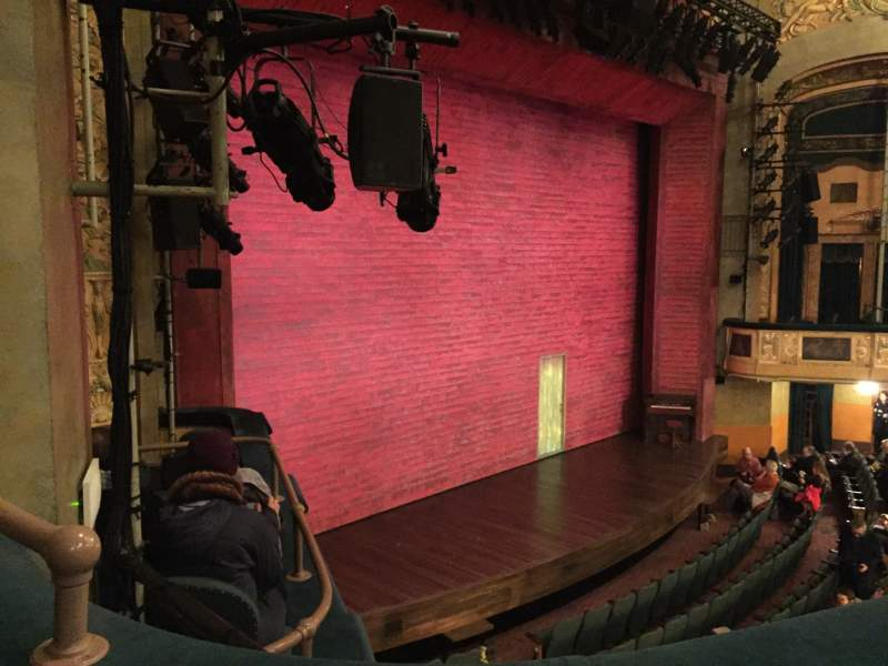 Seating view for Shubert Theatre Section Mezzanine L Row B Seat 27