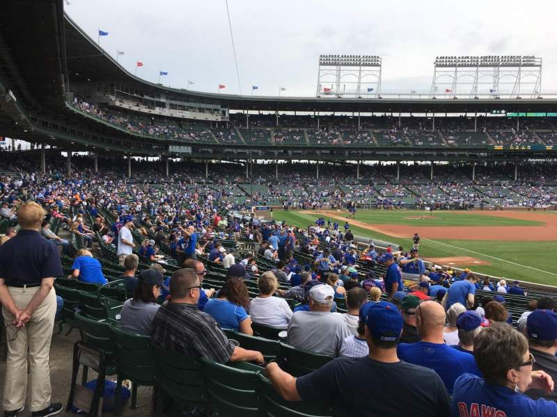 Seating view for Wrigley Field Section 239 Row 1 Seat 1