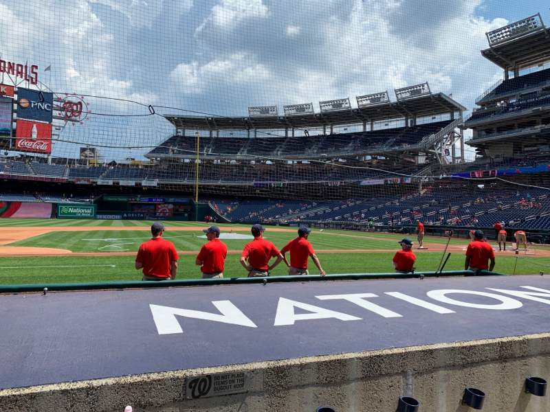 Seating view for Nationals Park Section 116 Row F Seat 7
