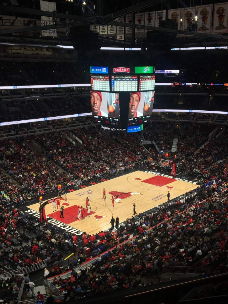 Seating view for United Center Section 220 Row 6 Seat 5