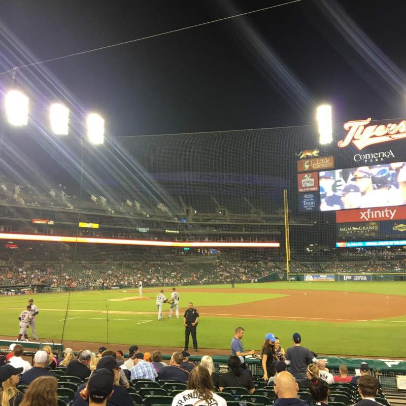Seating view for Comerica Park Section 119 Row 15 Seat 3