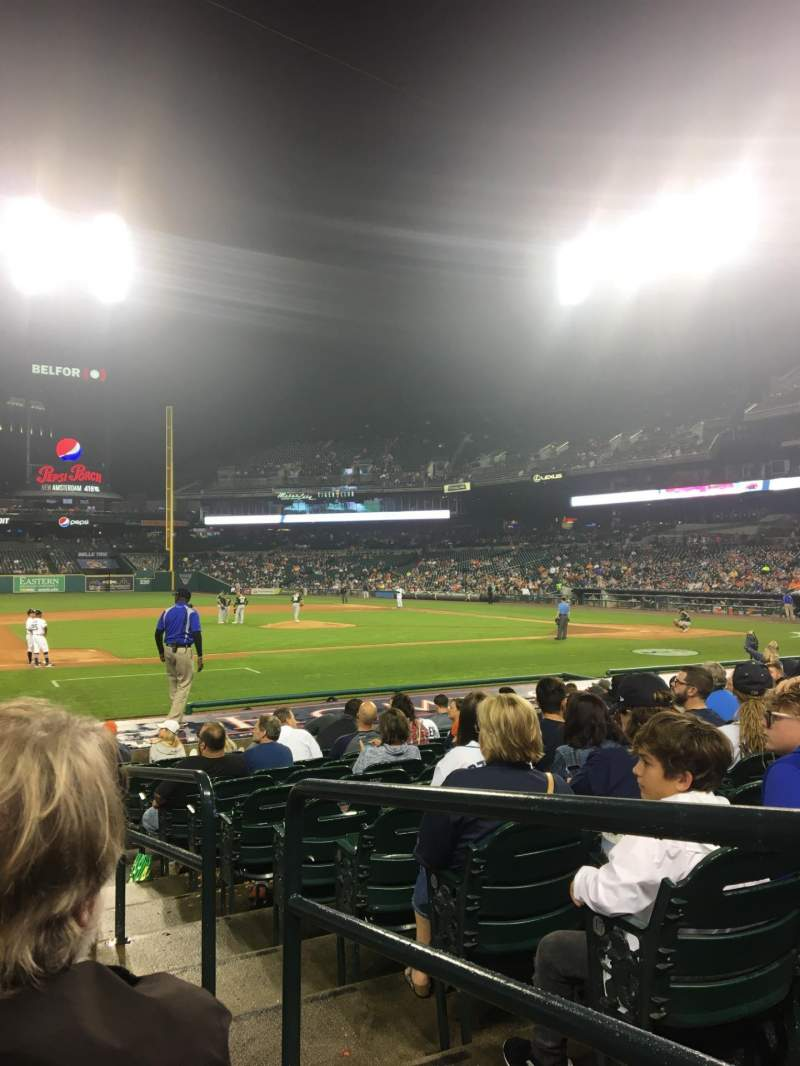 Seating view for Comerica Park Section 134 Row 10 Seat 1