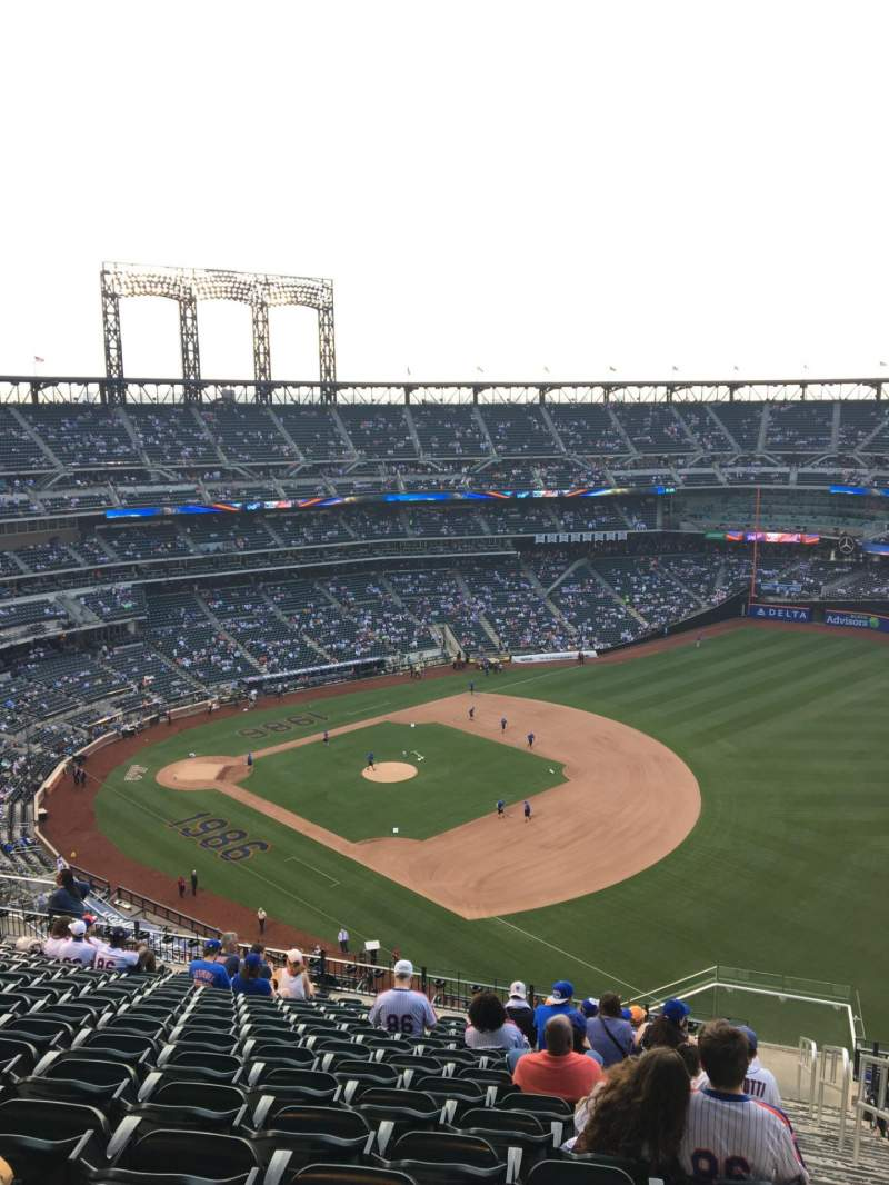 Seating view for Citi Field Section 506 Row 16 Seat 1