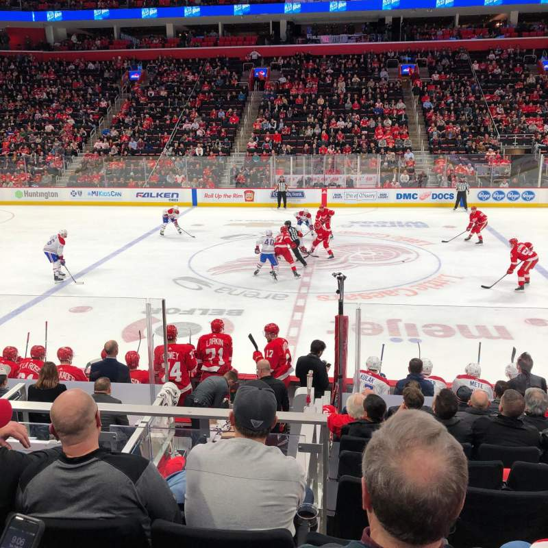 Seating view for Little Caesars Arena Section 122 Row 11 Seat 9