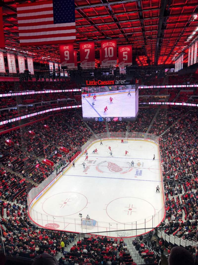 Seating view for Little Caesars Arena Section 221 Row 1 Seat 1