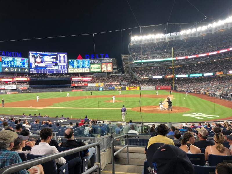 Seating view for Yankee Stadium Section 121b Row 7 Seat 13