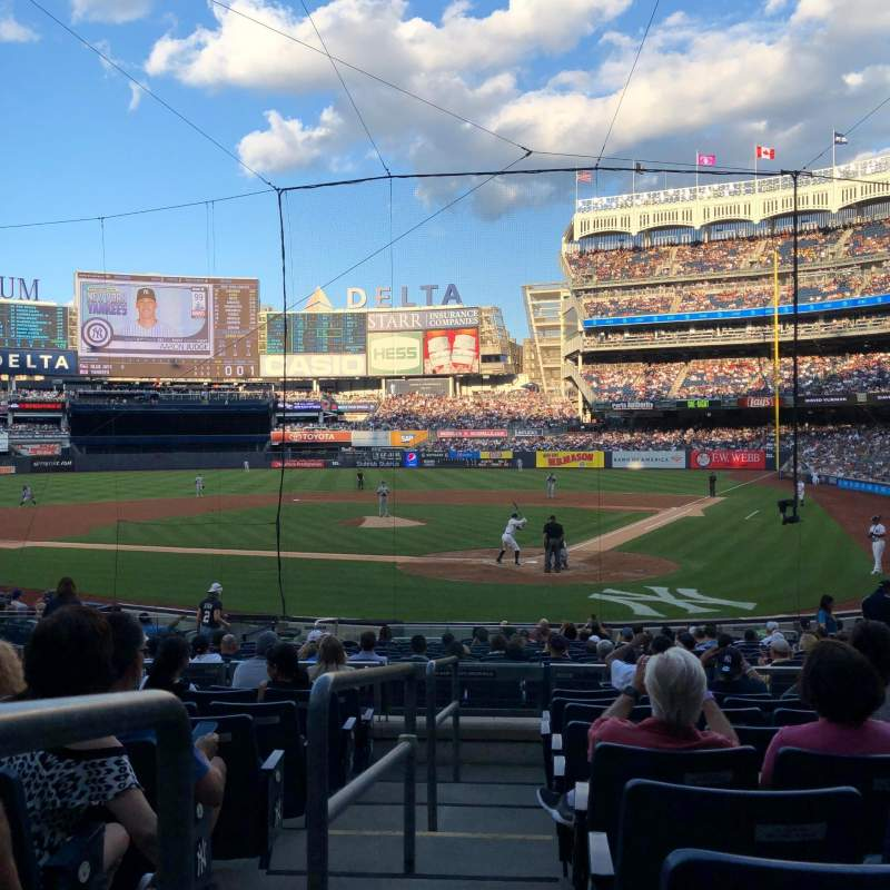 Seating view for Yankee Stadium Section 121A Row 9 Seat 13