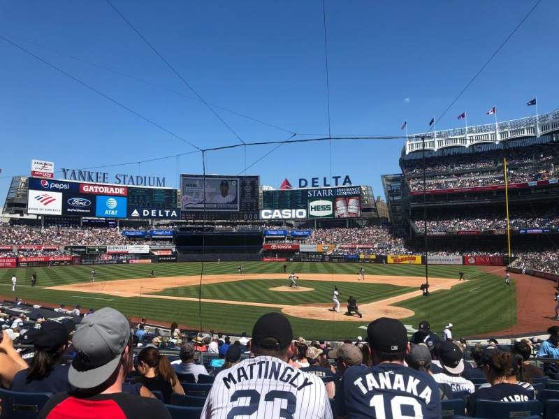 Seating view for Yankee Stadium Section 121A Row 13 Seat 8