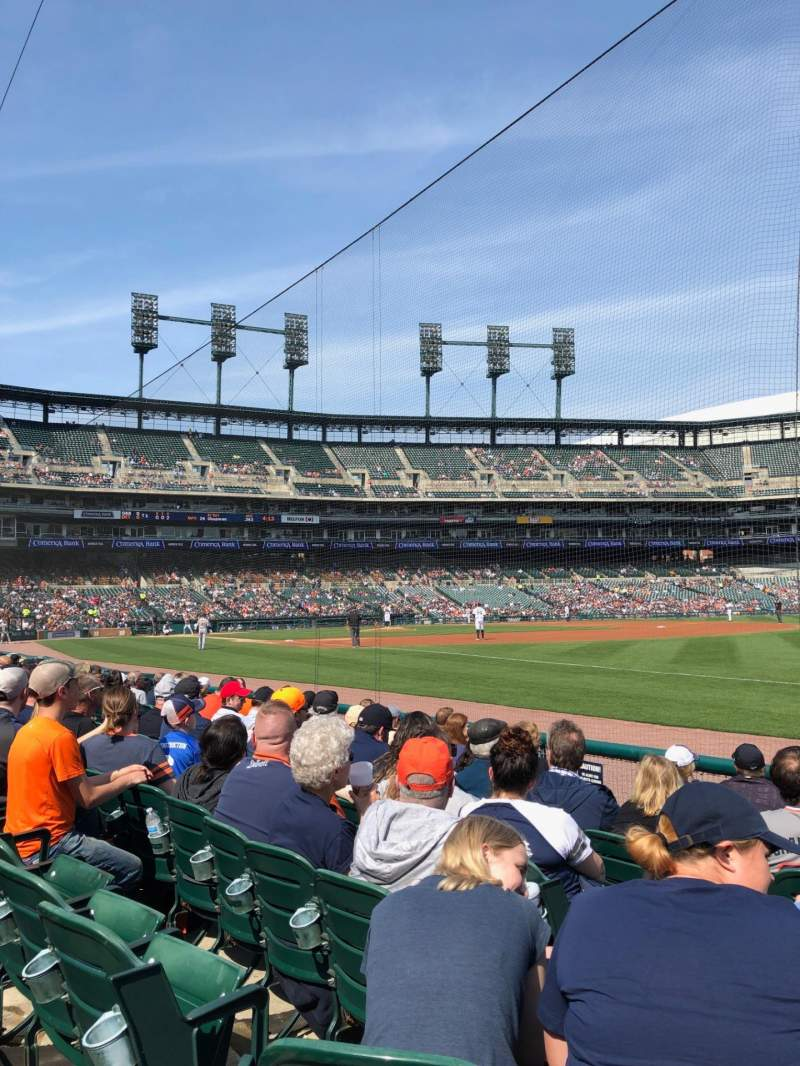 Seating view for Comerica Park Section 114 Row 8 Seat 13
