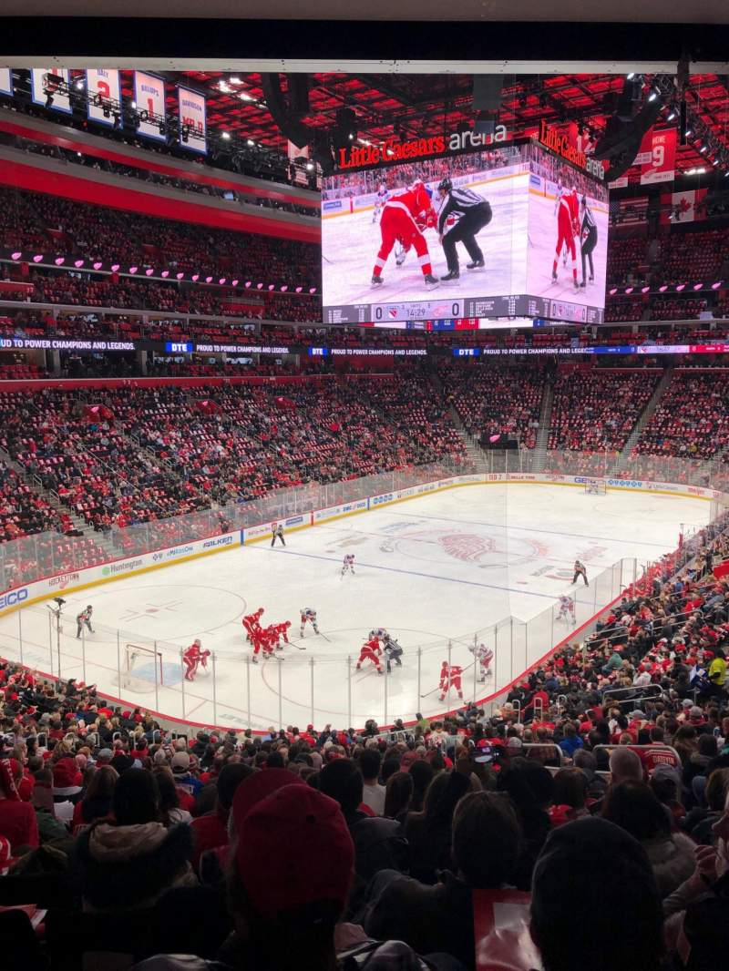 Seating view for Little Caesars Arena Section 101 Row 24 Seat 13