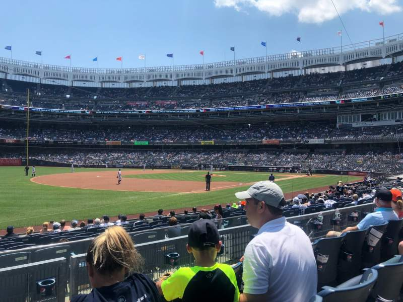 Seating view for Yankee Stadium Section 128 Row 3 Seat 14