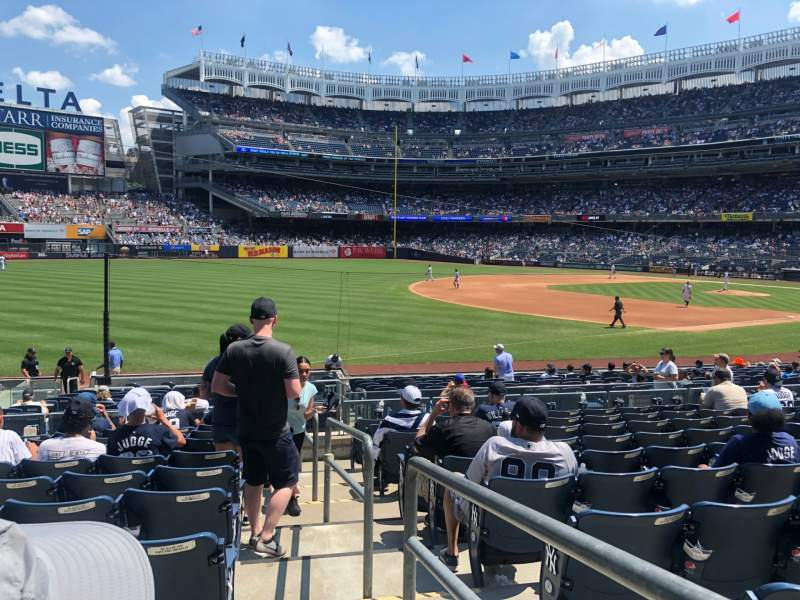 Seating view for Yankee Stadium Section 129 Row 21 Seat 1