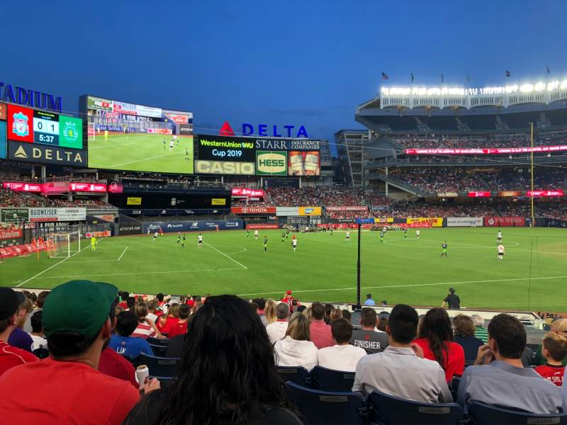 Seating view for Yankee Stadium Section 129 Row 21 Seat 4